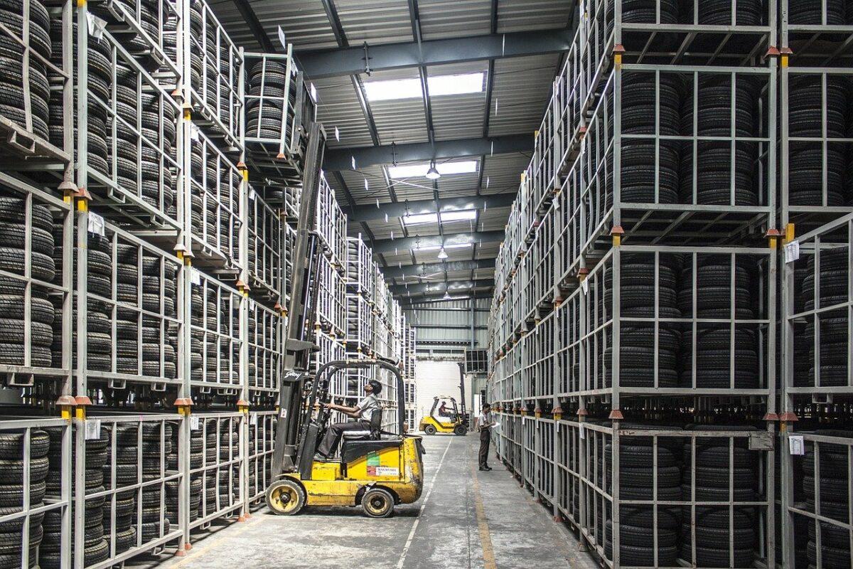 forklift, warehouse, machine