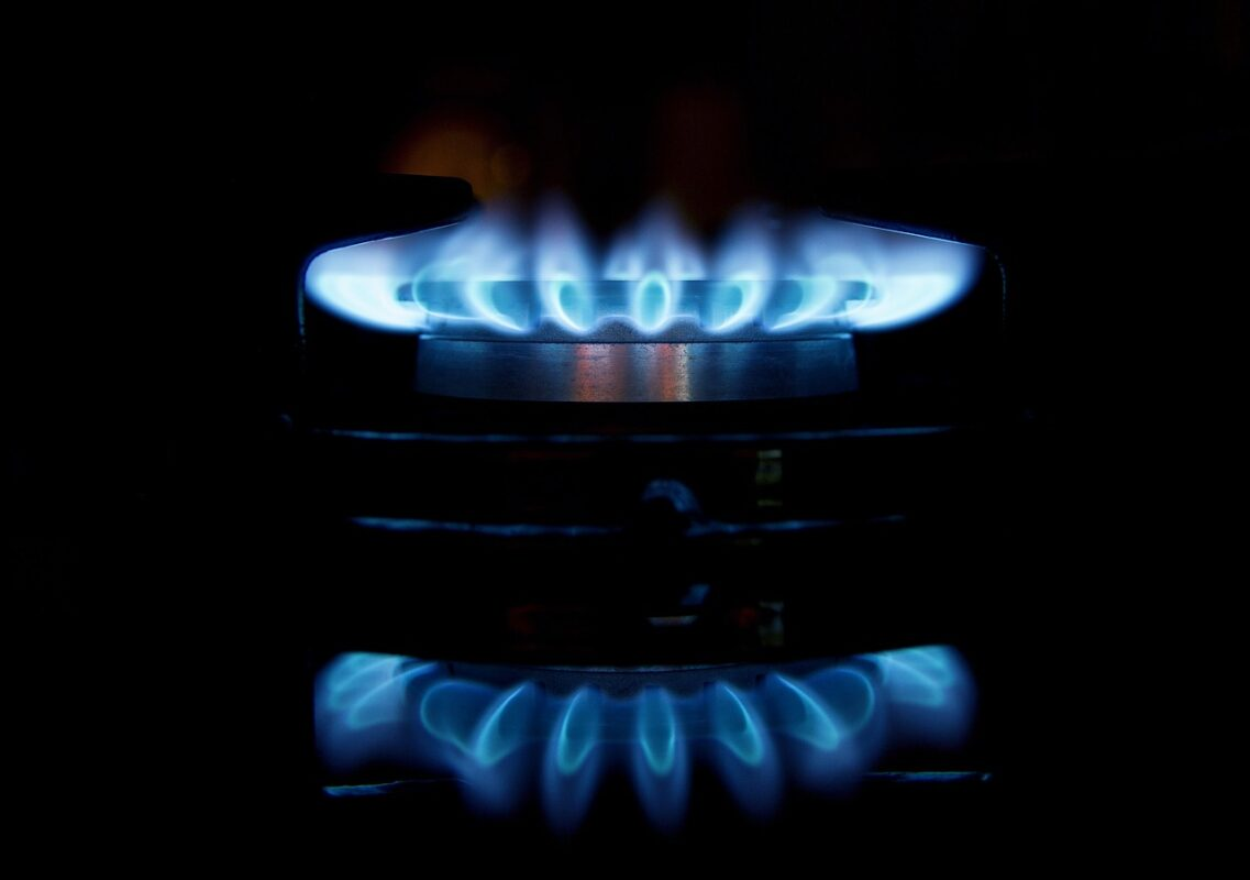 gas, flames, stove