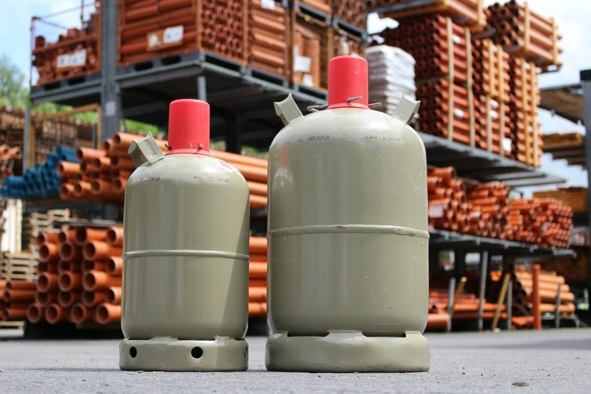 gas bottle, gas, bottle